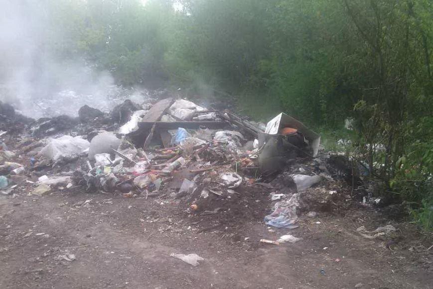 Под Харьковом спасатели тушили горящие свалки с мусором (ФОТО), фото-1