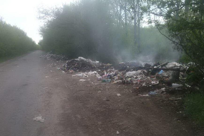 Под Харьковом спасатели тушили горящие свалки с мусором (ФОТО), фото-2