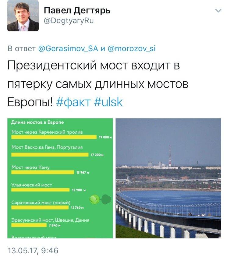 Ульяновский Президентский мост вошёл в 5-ку самых длинных в Европе, фото-1
