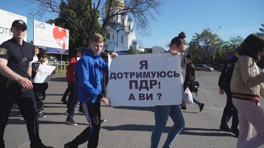 """""""Мітинг"""" на Минайській - ужгородські школярі із плакатами у руках вийшли на дорогу: фото, фото-6"""