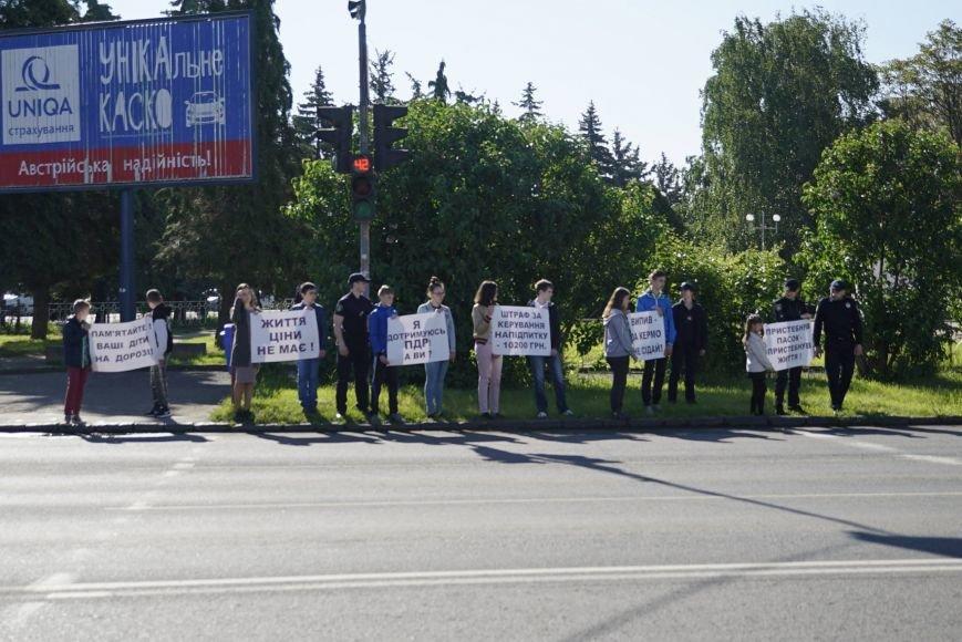 """""""Мітинг"""" на Минайській - ужгородські школярі із плакатами у руках вийшли на дорогу: фото, фото-2"""