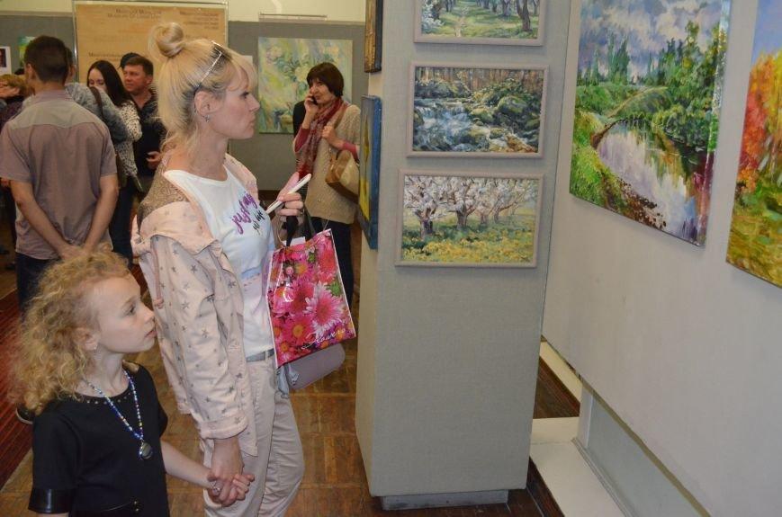 В Мелитополе состоялось открытие художественной выставки «Дыхание весны», фото-1