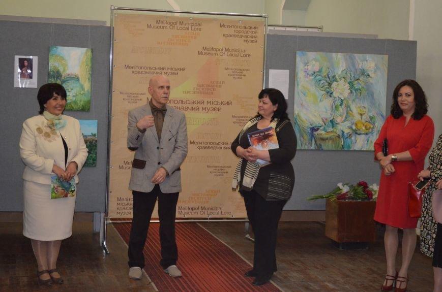 В Мелитополе состоялось открытие художественной выставки «Дыхание весны», фото-9