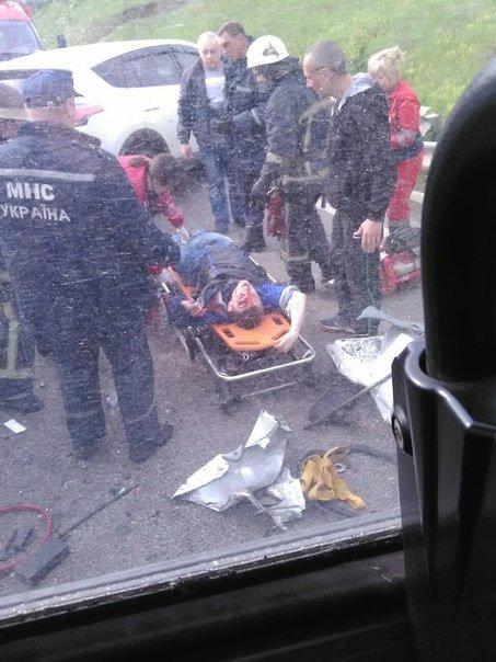 Авария на окружной: столкнулись три автомобиля и маршрутка: 11 пострадавших (ФОТО), фото-7