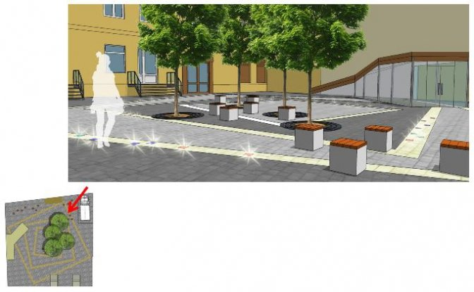 Як виглядатиме сквер на вулиці Дорошенка, 9 після реконструкції: візуалізація, фото-3