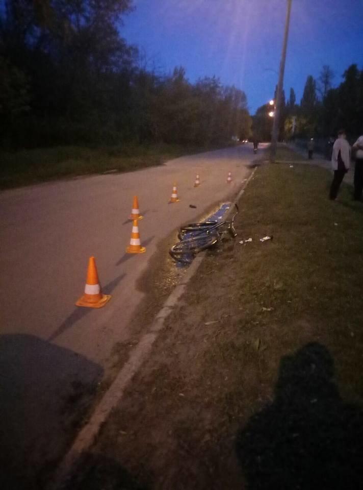 """На ХТЗ """"легковушка"""" сбила пенсионерку на велосипеде (ФОТО), фото-3"""