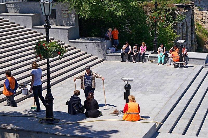 Готовность номер один: что происходит на Потемкинской лестнице перед визитом верховного главнокомандующего (ФОТО), фото-22