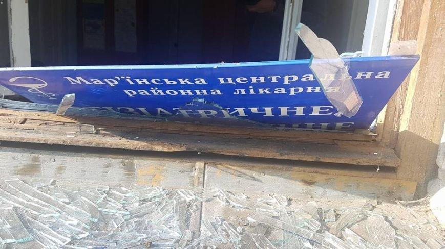 В Красногоровке снаряд боевиков взорвался между больницей и техникумом (ФОТО, ВИДЕО), фото-1