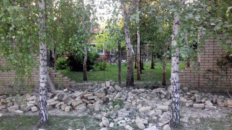 В Красногоровке снаряд боевиков взорвался между больницей и техникумом (ФОТО, ВИДЕО), фото-3
