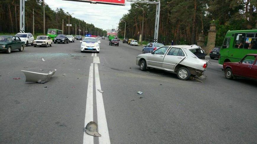 Разбитые авто и один пострадавший - ДТП на Салтовке (ФОТО), фото-1