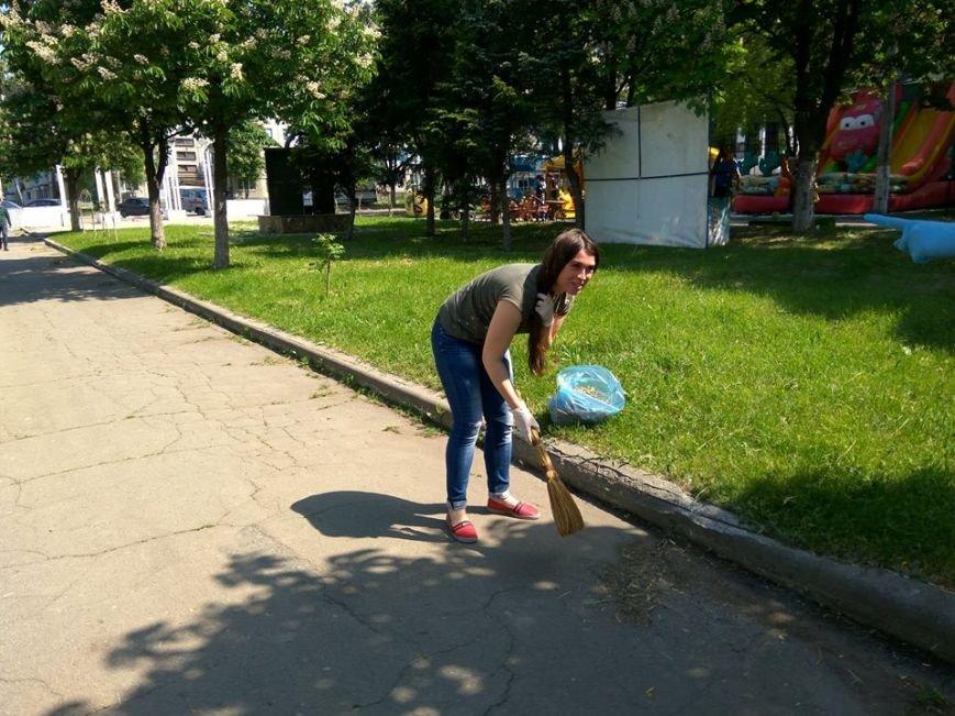 В Покровске провели очередной общегородской субботник, фото-2