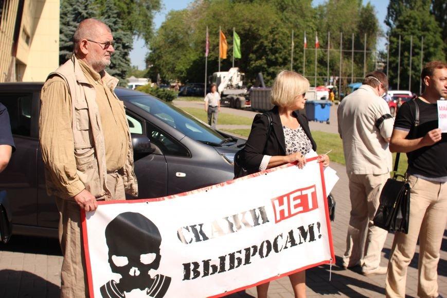 В Запорожье активисты в противогазах пришли на открытие Эко-форума, - ФОТО, ВИДЕО, фото-4