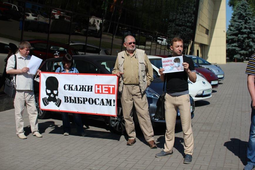 В Запорожье активисты в противогазах пришли на открытие Эко-форума, - ФОТО, ВИДЕО, фото-8
