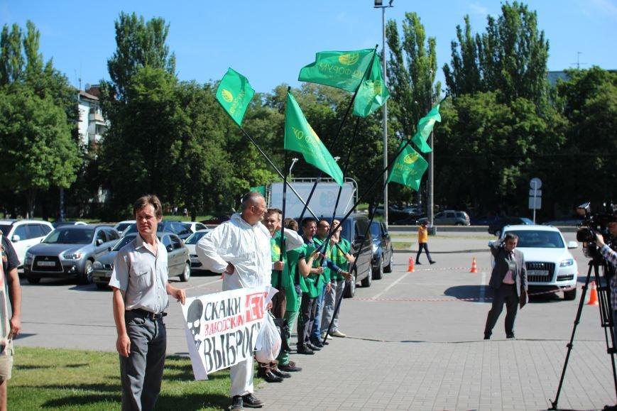 В Запорожье активисты в противогазах пришли на открытие Эко-форума, - ФОТО, ВИДЕО, фото-5