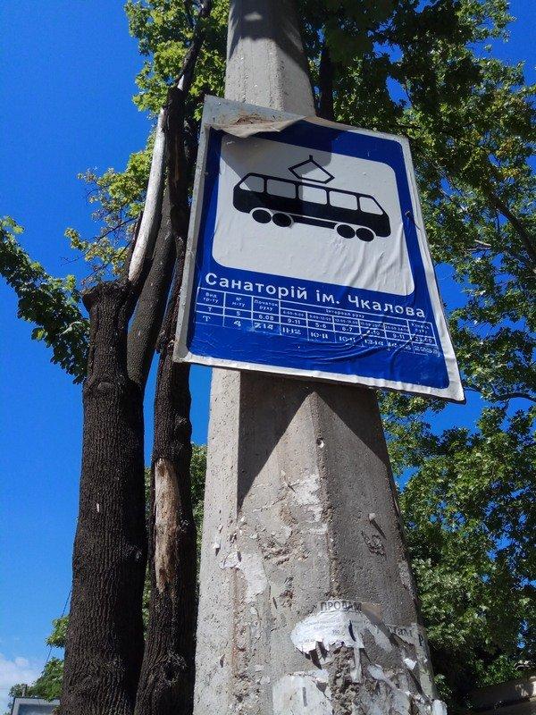 Одесские коммунальщики лишили Французский бульвар деревьев и остановки (ФОТО), фото-11