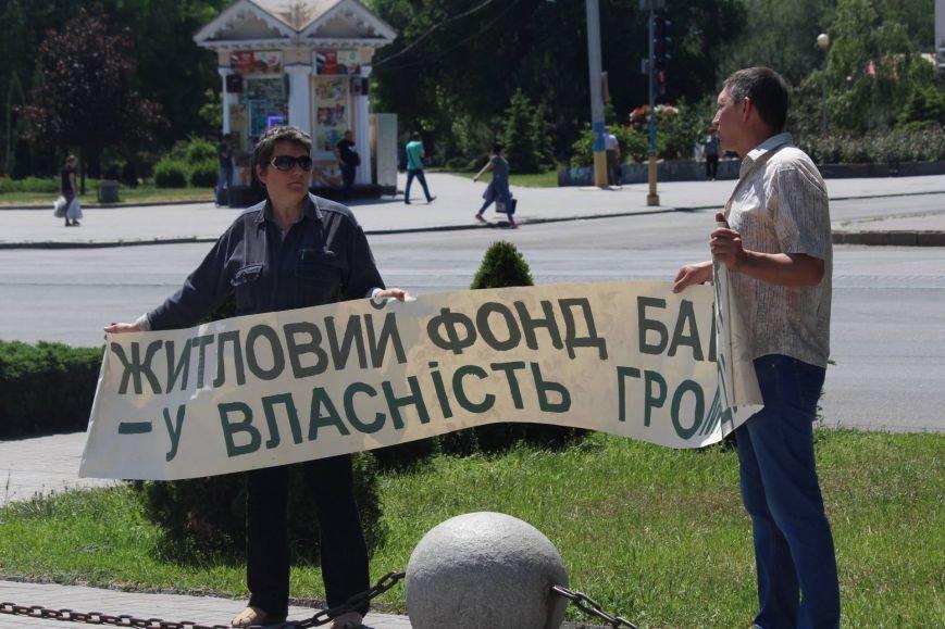 Под запорожской мэрией проходит митинг, участников не пустили на сессию, - ФОТО, ВИДЕО, фото-7