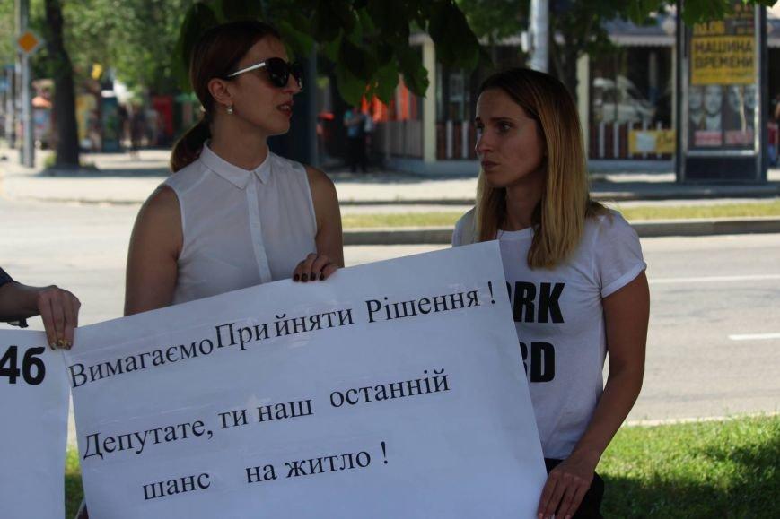 Под запорожской мэрией проходит митинг, участников не пустили на сессию, - ФОТО, ВИДЕО, фото-3