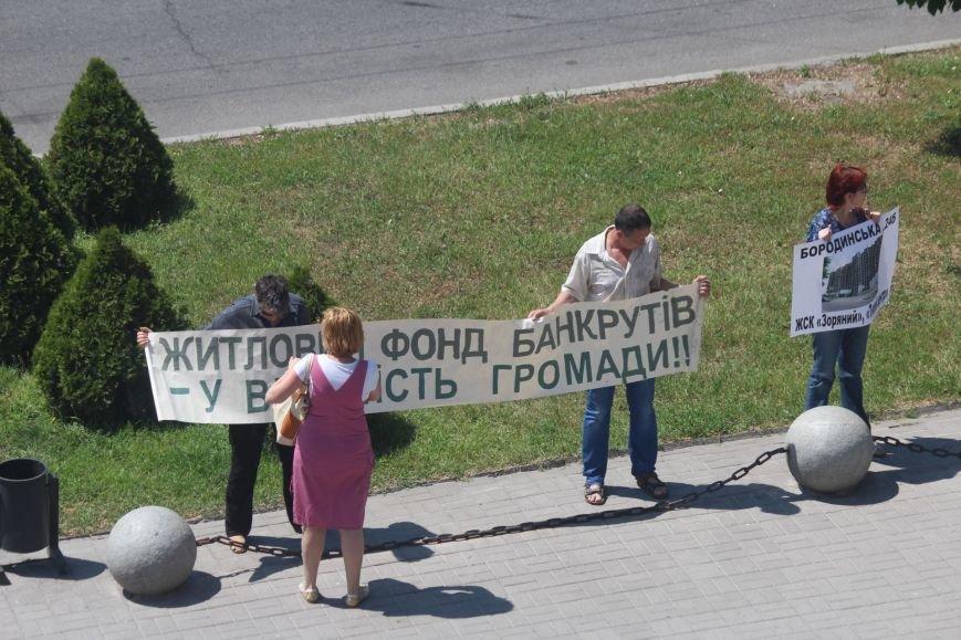 Под запорожской мэрией проходит митинг, участников не пустили на сессию, - ФОТО, ВИДЕО, фото-8