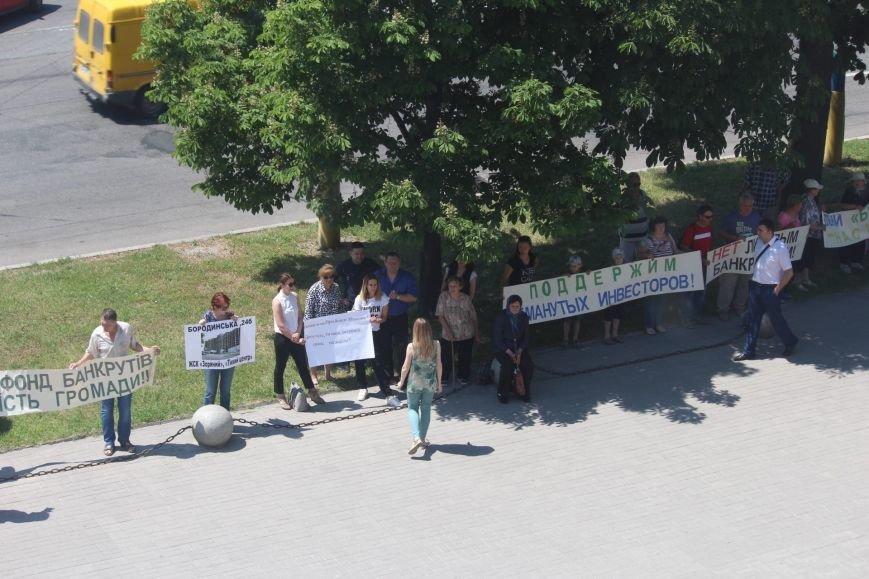 Под запорожской мэрией проходит митинг, участников не пустили на сессию, - ФОТО, ВИДЕО, фото-11