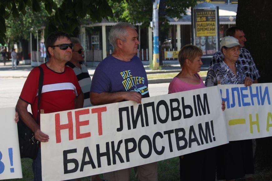 Под запорожской мэрией проходит митинг, участников не пустили на сессию, - ФОТО, ВИДЕО, фото-5