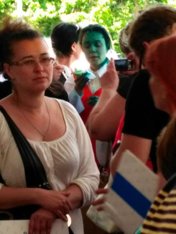 В Одессе Наталью Королевскую облили зеленкой (ФОТО), фото-1