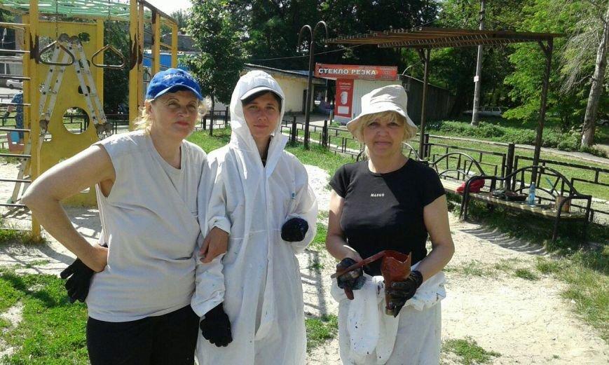 Волонтеры облагораживают городские детские площадки (ФОТО), фото-1