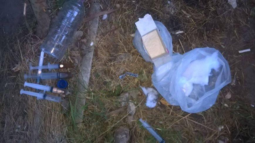 В Солоницевке трое местных жителей варили наркотики в лесополосе (ФОТО), фото-1