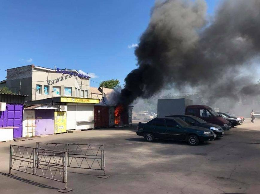 В Мариуполе на рынке горел контейнер (ФОТО), фото-1