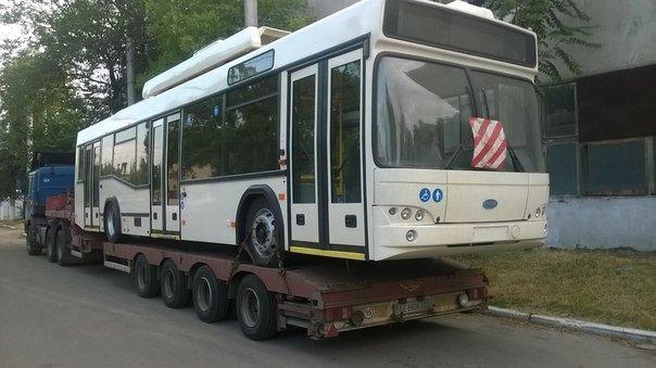 В Мариуполь отправили 6 новых троллейбусов с Wi-Fi (ФОТО), фото-1