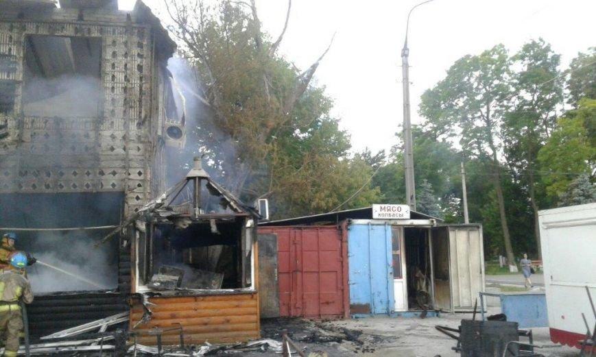 В мариупольской Сартане сгорели три магазина (ФОТО), фото-1