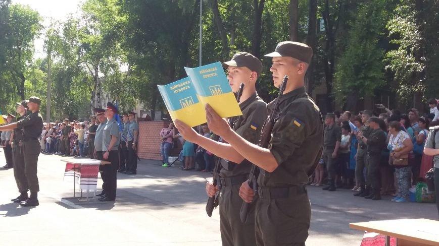 В Запорожье 150 нацгвардейцев-срочников присягнули на верность Украине, фото-5