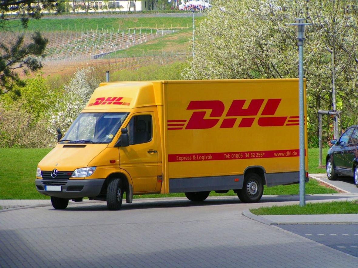 DHL-Fahrzeug