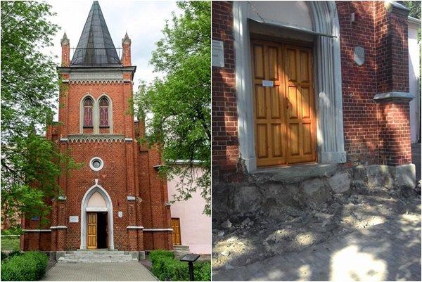 В Полоцке разрушили крыльцо здания кирхи. Фотофакт, фото-2