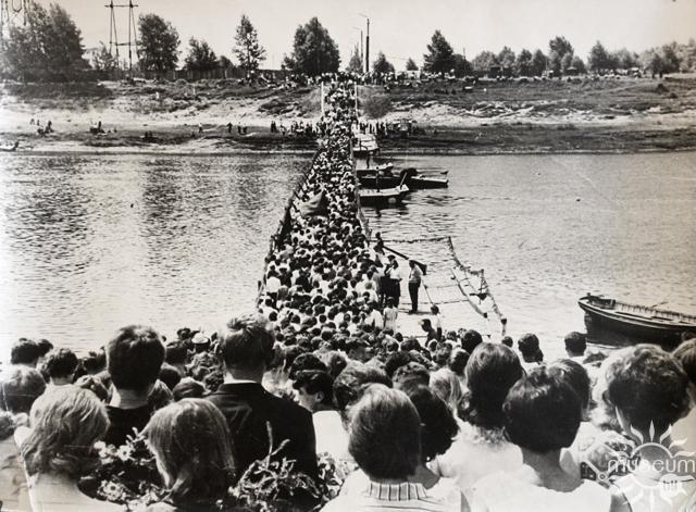Как строили Курган Бессмертия в Полоцке и понтонный мост через Двину. Редкие кадры, фото-4