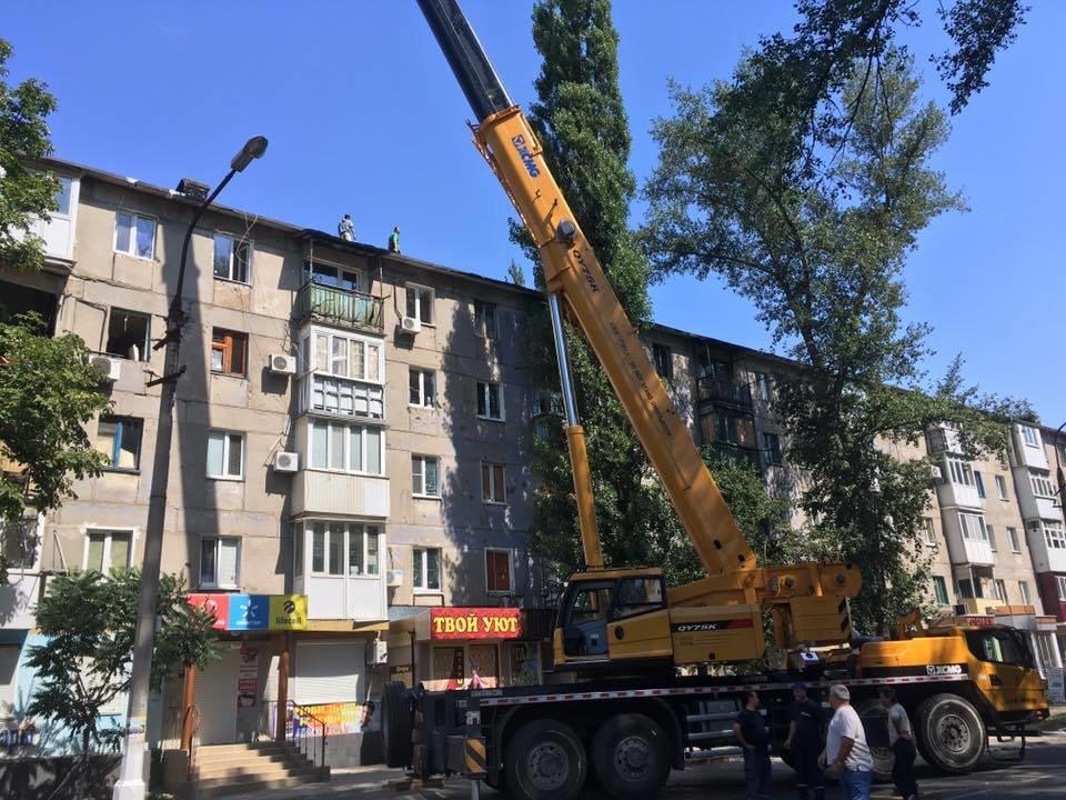 В Авдеевке приступили к демонтажу обрушившегося фасада многоэтажки(ФОТОФАКТ), фото-1