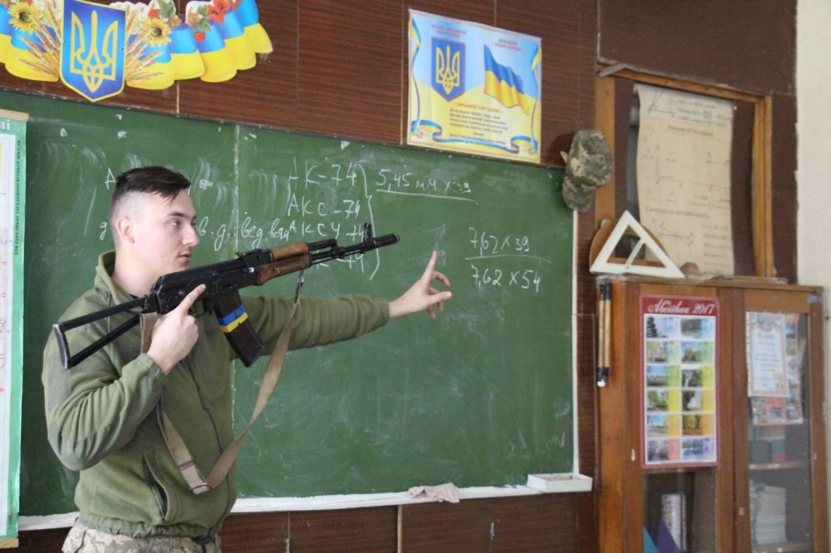 Школьников Авдеевки начали обучать офицеры ВСУ (ФОТО), фото-5