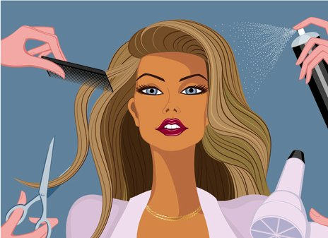 hairdresser_and_beauty_salon_theme_vector_background_523318