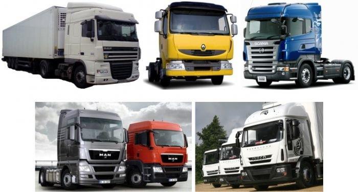 грузовики и полуприцепы