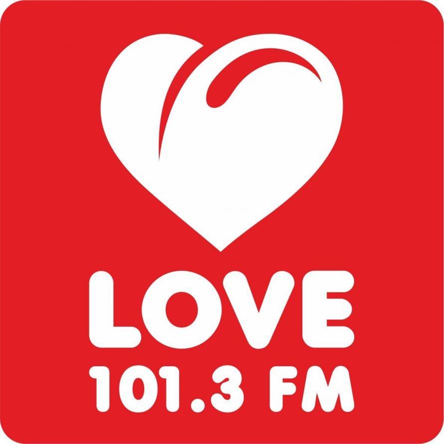 Логотип LoveRadio 101.3 красный