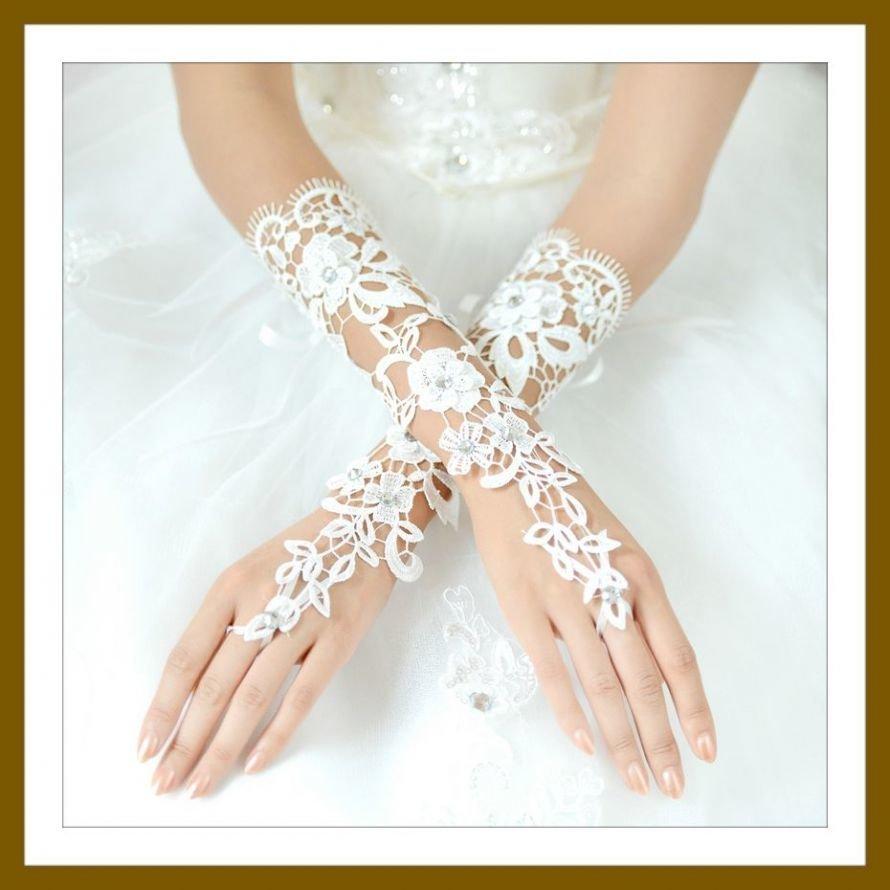 Free-Shipping-Lace-Wedding-Glove-Luxury-Crystal-White-Fingerless-Bride-Glove-am0902