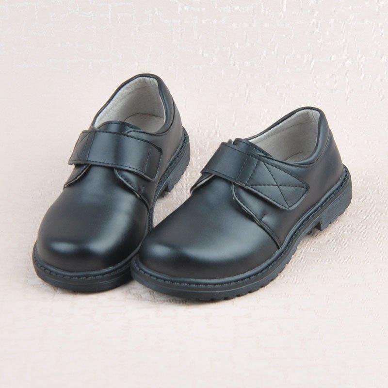 Дети-черный-натуральная-кожа-обувь-платье-униформа-школа-мальчик-обувь-falt-с-дети-мокасины