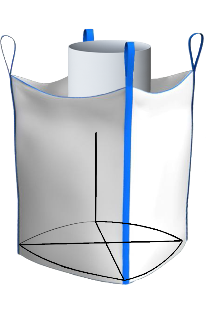 Биг-Бэг четырехстропный верхний люк плоское дно
