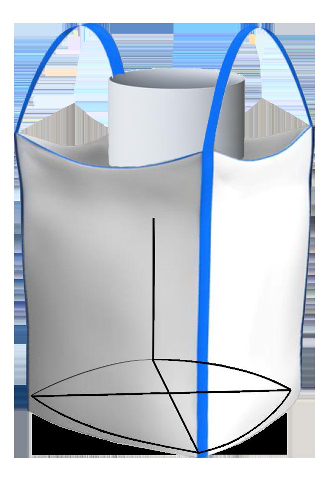 Биг-Бэг двухстропный ленточный верхний люк плаское дно