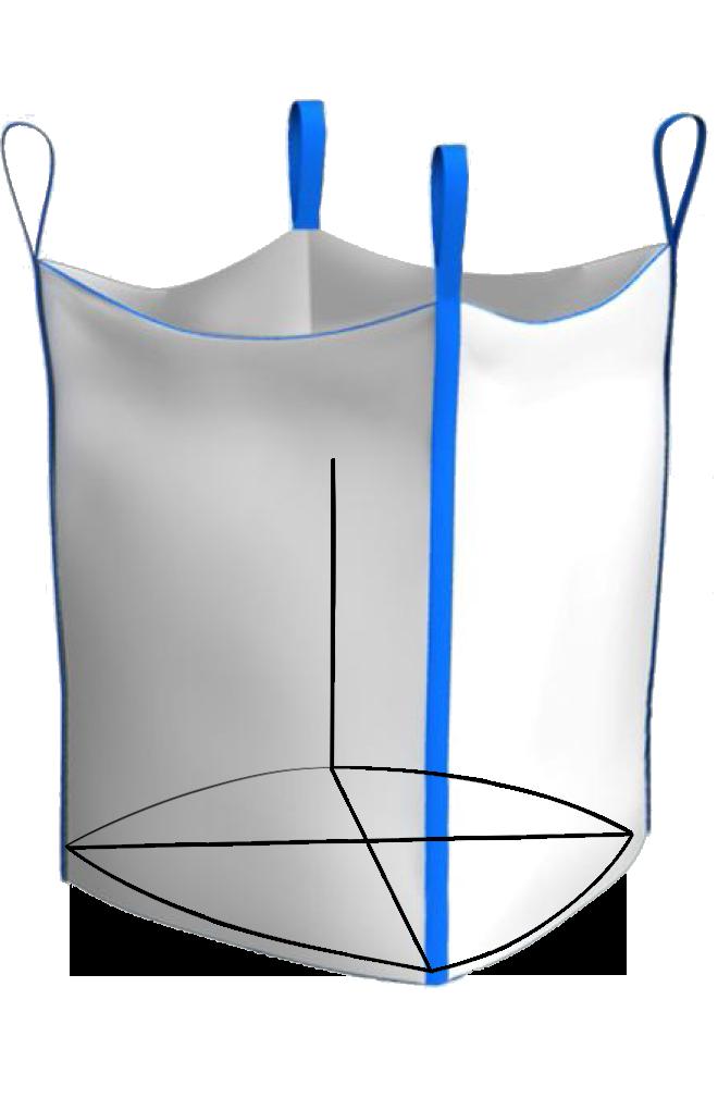 Биг-Бэг четырехстропный открытый верх плоское дно