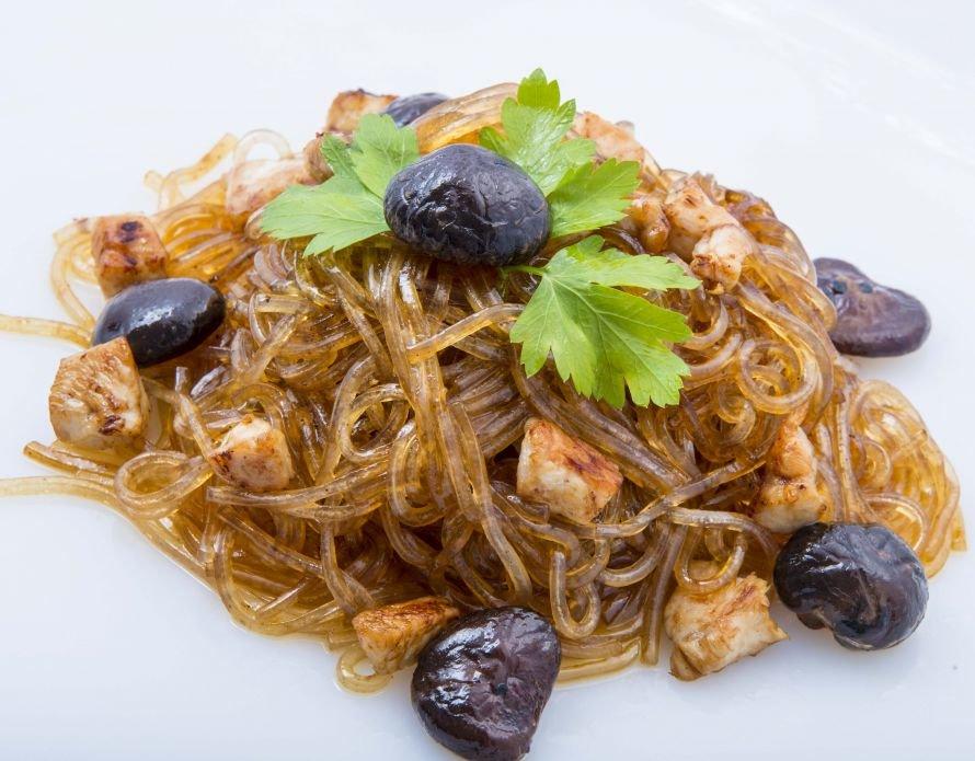 wok - хурасаме с курицей и грибами 300г (2)