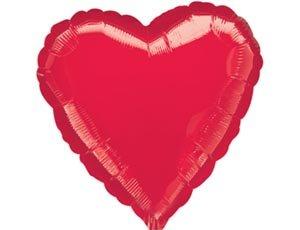 Сердце Красное 18 Шар Фольгированный 40грн