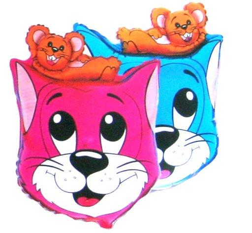 Кот и Мышь Шар Фольгированный розовый 45грн
