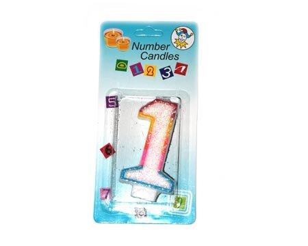 Свеча цифра 1