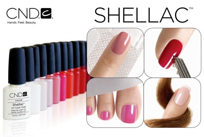 Покрытие ногтей гель-лаком Shellac